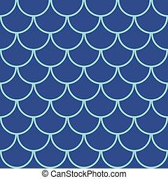 パターン, fish, 海洋, seamless, スケール