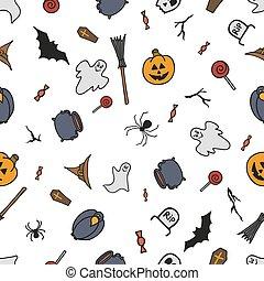 パターン, halloween., seamless