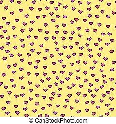 パターン, hearts., seamless, ごく小さい