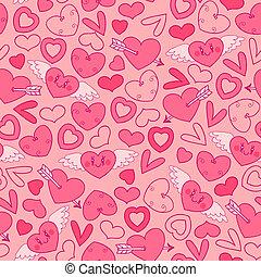 パターン, hearts., seamless