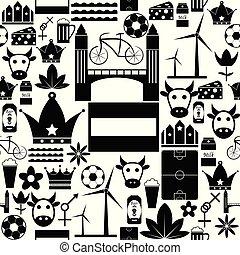 パターン, icon., netherlands, seamless, 背景
