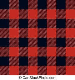 パターン, lumberjack, plaid, seamless