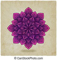 パターン, mandala, 古い, 背景, 円