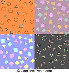 パターン, pattern., seamless, 手ざわり, vector., 幾何学的, 数字。