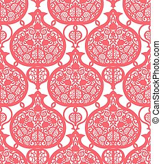パターン, pomegranates., seamless