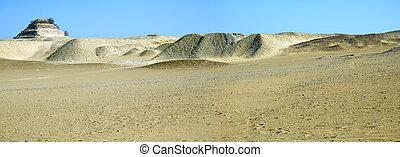 パターン, saqqara, 砂漠, ピラミッド, djoser