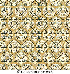 パターン, seamless, アラビア人, 型, タイル, モザイク