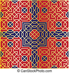 パターン, seamless, アラベスク