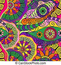 パターン, seamless, カラフルである