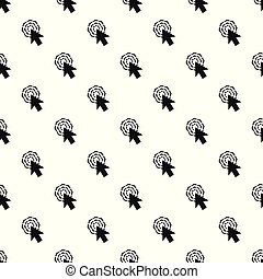 パターン, seamless, カーソル, ベクトル, 矢, クリック