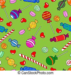 パターン, seamless, キャンデー