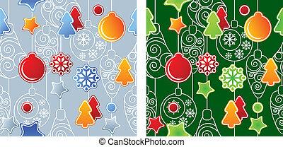 パターン, seamless, クリスマス