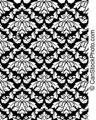 パターン, seamless, ダマスク織
