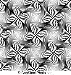パターン, seamless, デザイン, 回転, しまのある, 幾何学的, 動き
