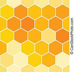 パターン, seamless, ハチの巣