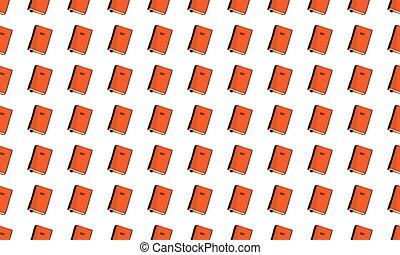 パターン, seamless, バックグラウンド。, 本, vector., bookmarks, 白