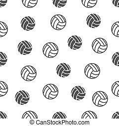 パターン, seamless, バレーボール