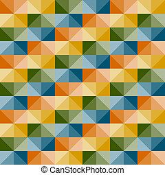 パターン, seamless, ベクトル, 幾何学的, 錯覚, 3d