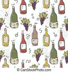 パターン, seamless, ワイン