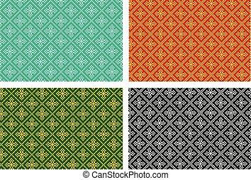 パターン, seamless, 交差点, ベクトル, デザイン, ピクセル