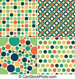 パターン, seamless, 円