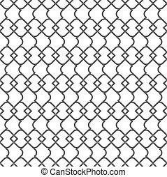 パターン, -, seamless, 変化, 1, デリケートである, モノクローム