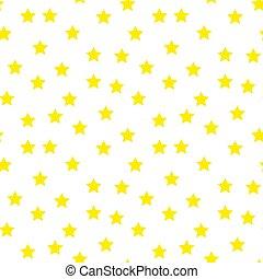 パターン, seamless, 天候, 落ちる, かわいい, contour., ベクトル, 星, 黄色, バックグラウンド。, シンボル。, illustration., 白