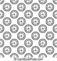 パターン, seamless, 時計