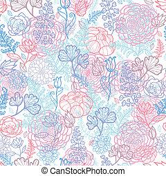 パターン, seamless, 朝, 色, 背景, 花
