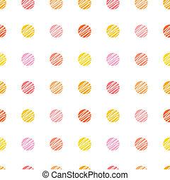 パターン, seamless, 点
