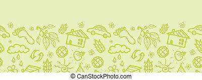 パターン, seamless, 生態学的, 背景, 横, ボーダー