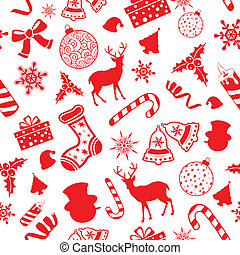 パターン, seamless, 背景, クリスマス
