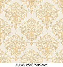 パターン, seamless, 背景, ダマスク織