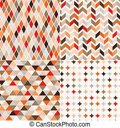 パターン, seamless, 背景, レトロ