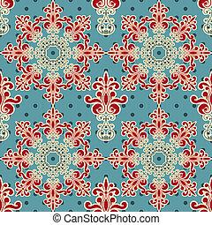 パターン, seamless, 花, 壁紙, ベクトル