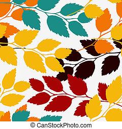 パターン, seamless, 葉