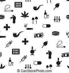 パターン, seamless, 薬