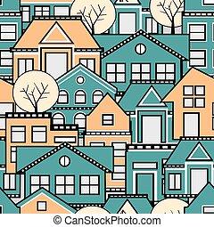 パターン, seamless, 都市