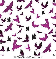 パターン, seamless, 鳥