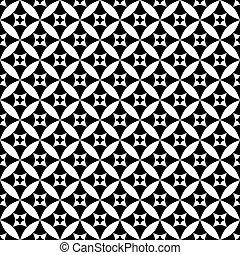 パターン, seamless, black-white