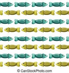 パターン, seamless, fish-2