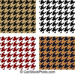 パターン, seamless, houndstooth