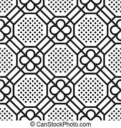 パターン, seamless, (vector)