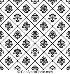 パターン, vectpr, ダマスク織