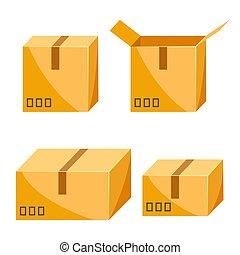 パッキング, セット, boxes.