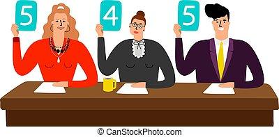 パネル, スコア, 陪審, 競争