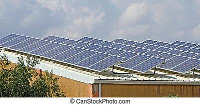 パネル, 太陽, 屋根