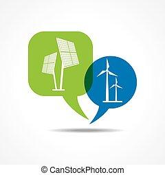 パネル, 太陽, wind-mill