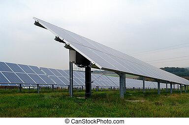 パネル, 電気である, 光起電, 回復可能, 生産