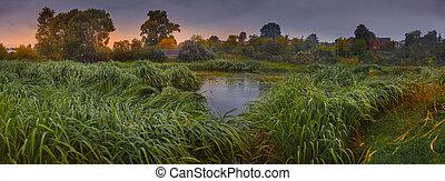 パノラマである, 川の景色